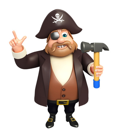 tricorne: Pirate with Hammer
