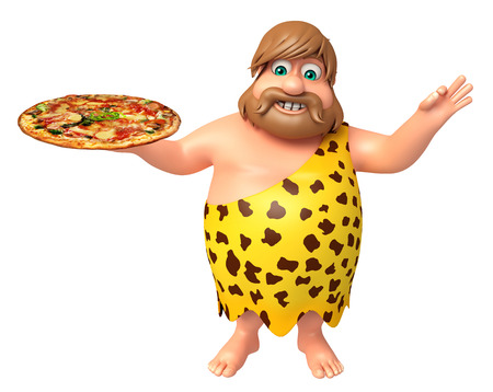 Caveman with Pizza