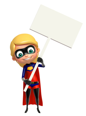 supergirl: supergirl with White board