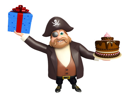 tricorne: Pirate with Cake & giftbox