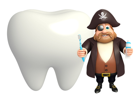 tricorne: Pirate with Teeth & toothbrush,paste