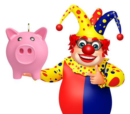 Clown with Pigibank