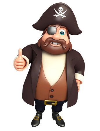 tricorne: Pirate with Thumbs up pose