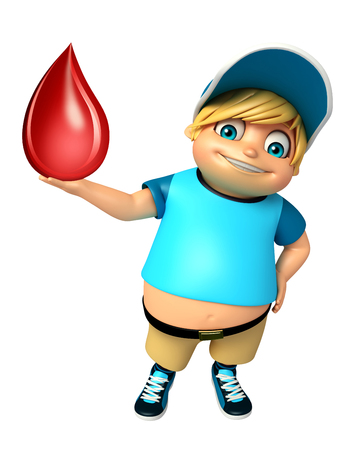 kid boy with Blood Drop Stock Photo