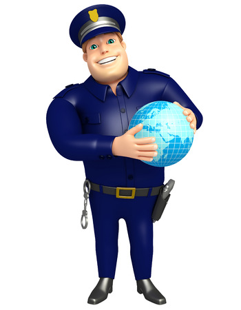 Police with Earth