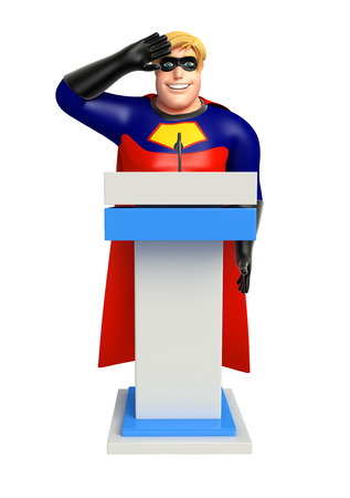 stage costume: Superhero with Speech stage