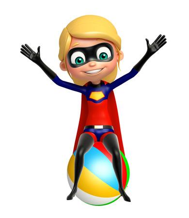 big ball: supergirl with Big ball