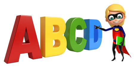 abcd: supergirl with ABCD sign