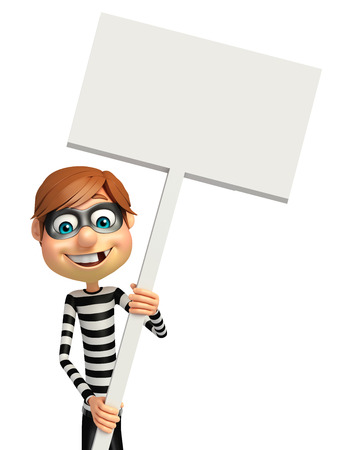 housebreaking: Thief with White board