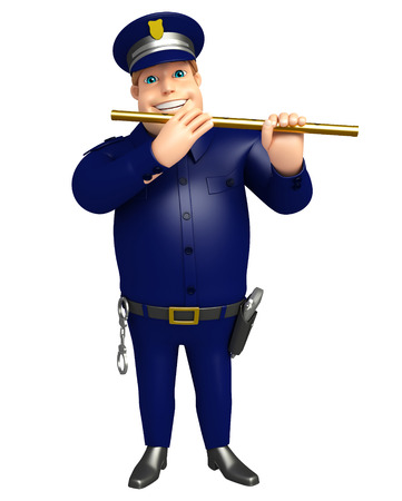 Police with Flute
