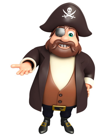 tricorne: Pirate with Hold pose