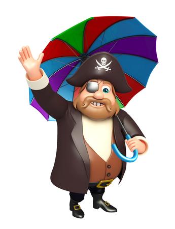 tricorne: Pirate with Umbrella