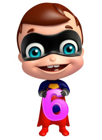 6 桁でかわいい superbaby 写真素材