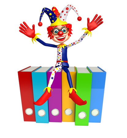 Clown with Files