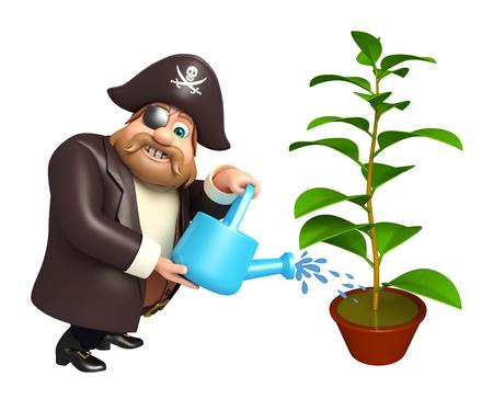 工場・じょうろと海賊