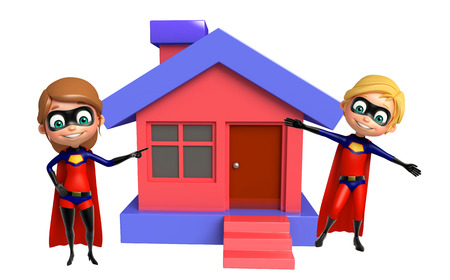 supergirl: Superboy and Supergirl with Home