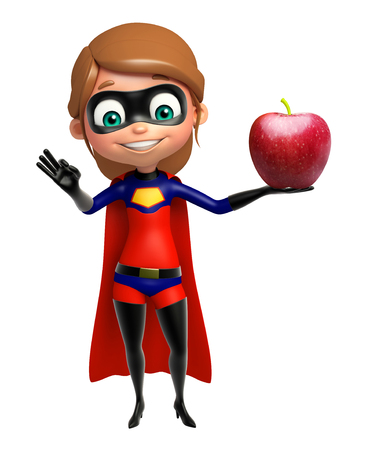 supergirl: supergirl with Apple