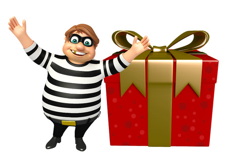 Thief with Gift box