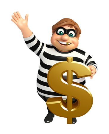 Thief with Dollar sign