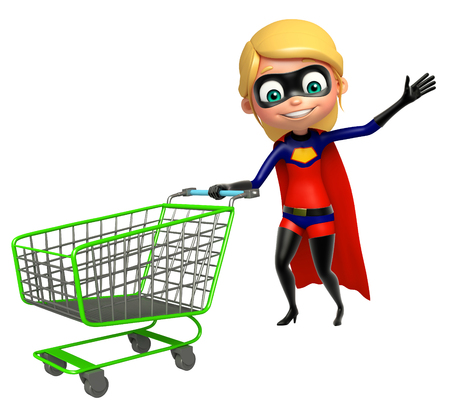 supergirl with trolley