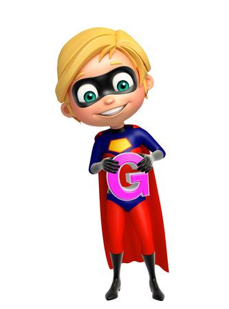 superboy: Superboy with G alphabate