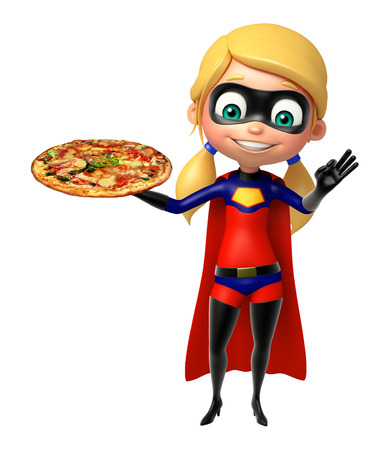 heroic: supergirl with Pizza
