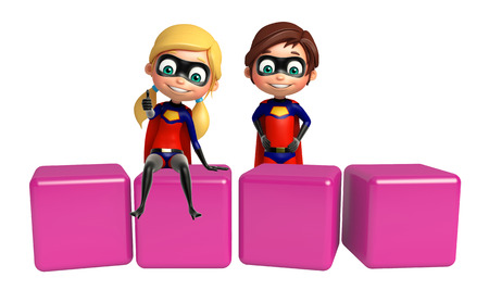 supergirl: Superboy and Supergirl with Level
