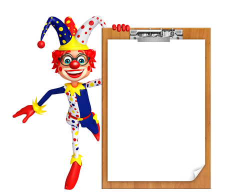 Clown with Exam pad Stock Photo