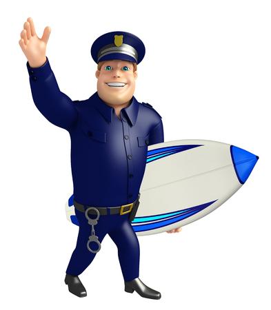 サーフェス ボードと警察