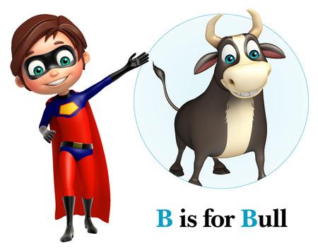Super Boy pointing Bull