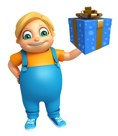 kid boy with Giftbox