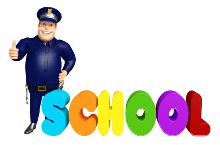Police with School sign