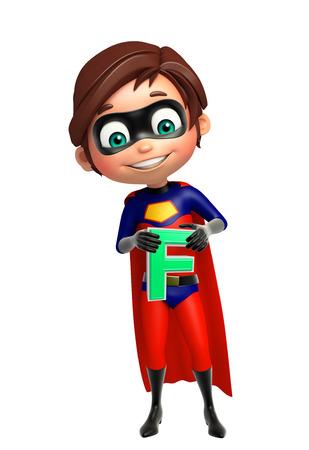 superboy: Superboy with F alphabate