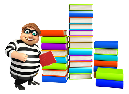 loot: Thief with Book stack & book