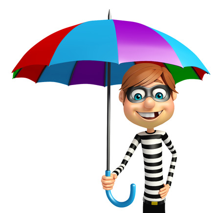 Thief with Umbrella