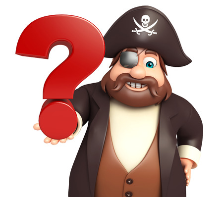 tricorne: Pirate with Question mark sign