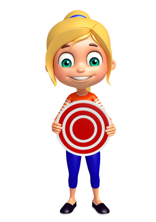 kid girl with Target sign