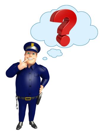 疑問符と警察