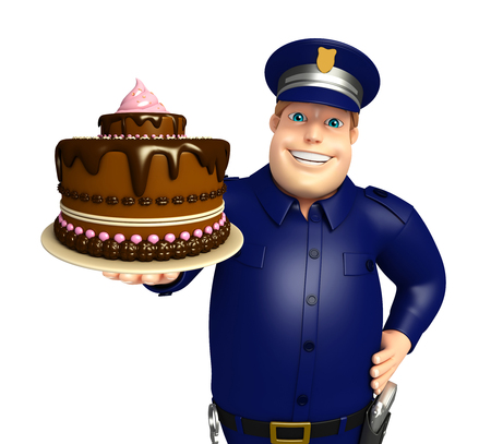 ケーキと警察