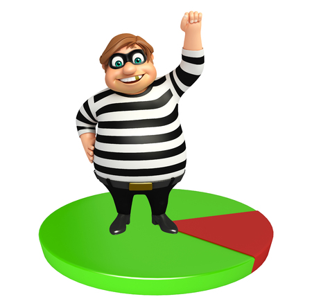 picker: Thief with Circle sign Stock Photo