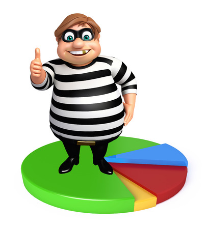 loot: Thief with Circle sign Stock Photo