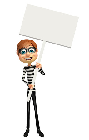 pirating: Thief with White board
