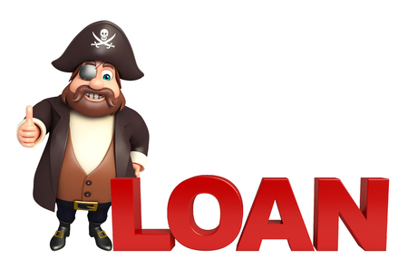 Pirate with Loan sign