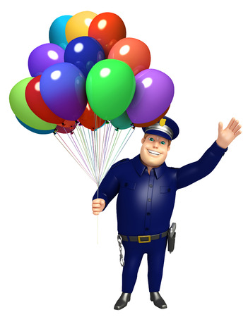 バルーンと警察