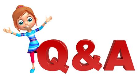 la muchacha del cabrito en Q & Un signo