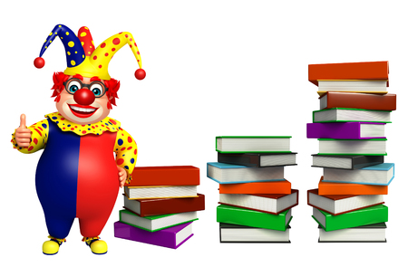 wig: Clown with Book stack