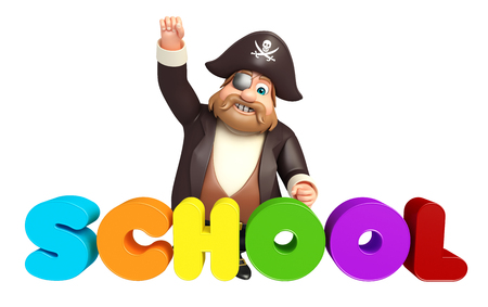 tricorne: Pirate with School sign