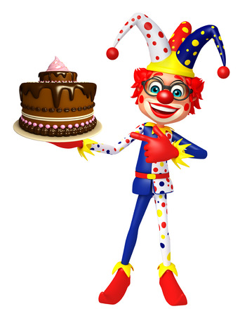 wig: Clown with Cake Stock Photo