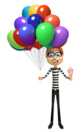 rob: Thief with balloons