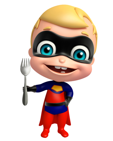 heroic: cute superbaby with Spoon